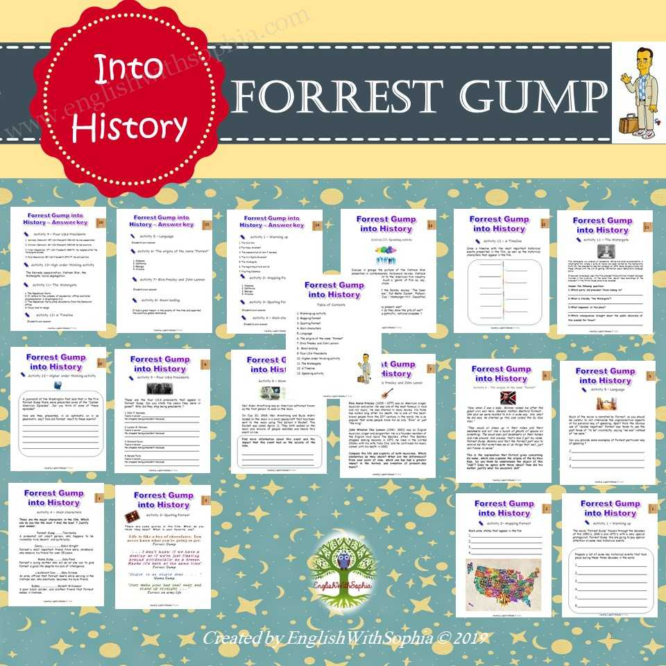 Focus on Forrest Gump and its historical events