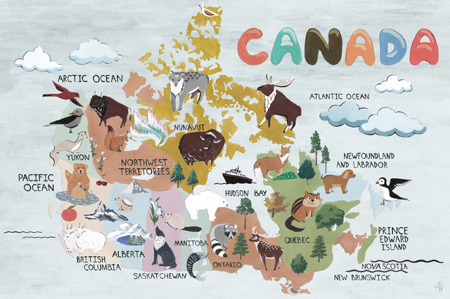 map of Canadian animals