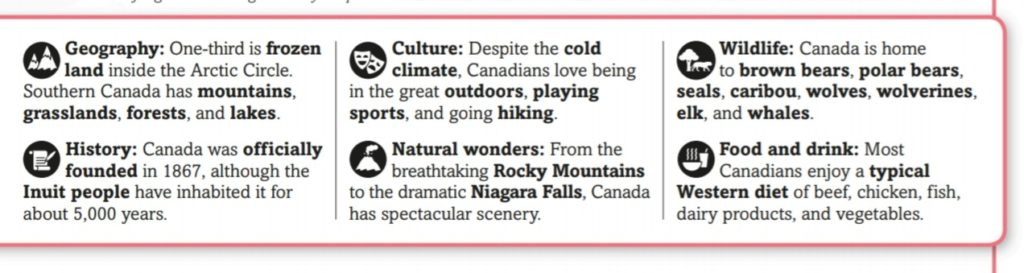 Canada main features